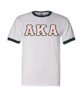 DISCOUNT-Alpha Kappa Alpha Lettered Ringer Shirt