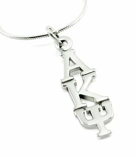 Alpha Kappa Psi Sterling Silver Lavaliere Pendant