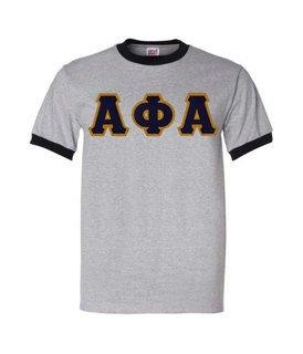 Alpha Phi Alpha Ringer T-Shirt, Applique