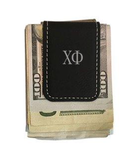 Chi Phi Leatherette New Money Clip