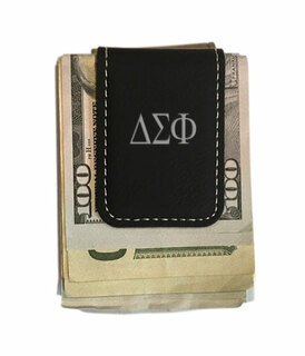 Delta Sigma Phi Leatherette New Money Clip