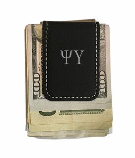 Psi Upsilon Leatherette New Money Clip