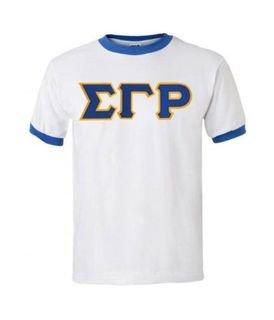 Sigma Gamma Rho Ringer T-Shirt, Applique
