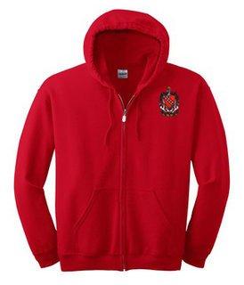 DISCOUNT-Tau Kappa Epsilon Emblem Full Zippered Hoodie