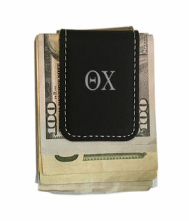 Theta Chi Leatherette New Money Clip
