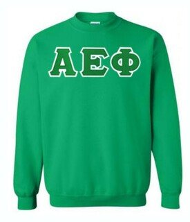 DISCOUNT Alpha Epsilon Phi Lettered Crewneck