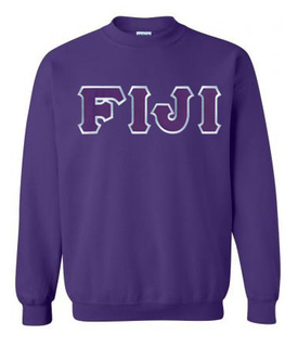 DISCOUNT FIJI Fraternity Lettered Crewneck