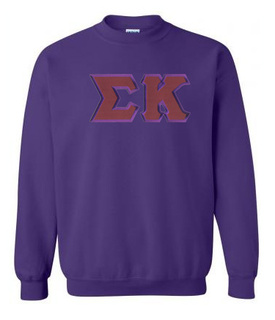 DISCOUNT Sigma Kappa Lettered Crewneck