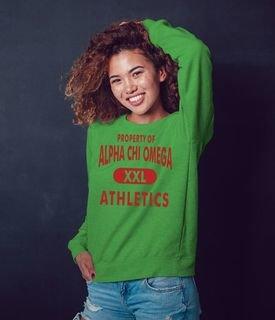 Alpha Chi Omega Athletics Crewneck Sweatshirt