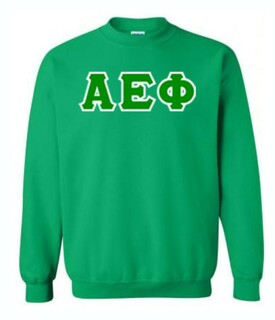 Alpha Epsilon Phi Lettered Crewneck