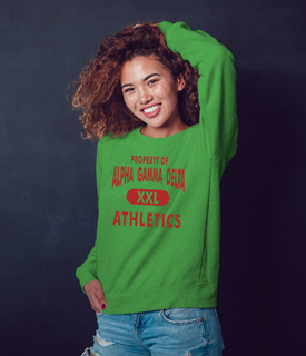 Alpha Gamma Delta Athletics Crewneck Sweatshirt