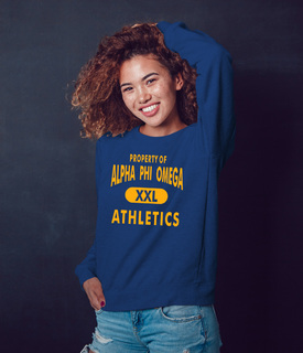 Alpha Phi Omega Athletics Crewneck Sweatshirt