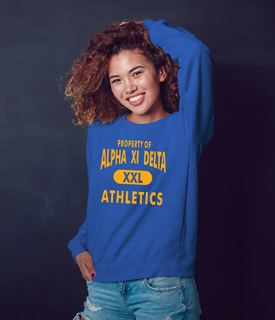 Alpha Xi Delta Athletics Crewneck Sweatshirt