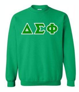 Delta Sigma Phi Sewn Lettered Crewneck Sweatshirt