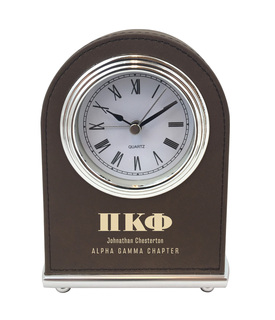 Elegant Arch Fraternity Desk Clock