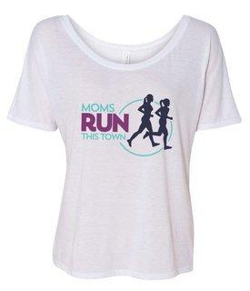 Moms Runs This Town Slouchy T-Shirt