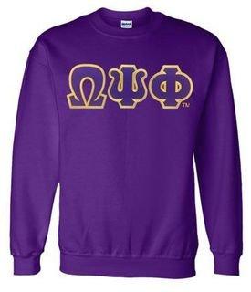 Omega Psi Phi Lettered Crewneck Sweatshirt