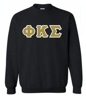 Phi Kappa Sigma Lettered Crewneck Sweatshirt