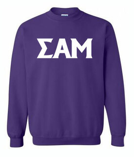 Printed Greek Lettered Sweatshirt
