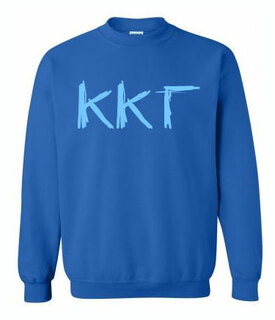 Scribbled Greek Crewneck Sweatshirt