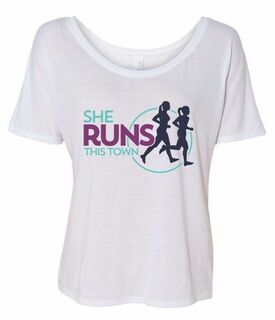 She Runs This Town Slouchy T-Shirt