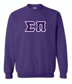 Sigma Pi Lettered Crewneck Sweatshirt
