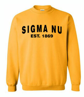 Since Greek Crewneck Sweatshirt