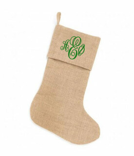 Sorority Burlap Stocking