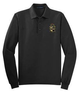 DISCOUNT-Alpha Phi Alpha Emblem Long Sleeve Polo