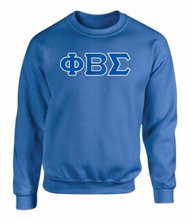 Phi Beta Sigma 2 Day Ship Twill Crewneck Sweatshirt