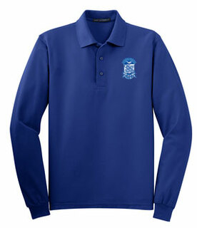 DISCOUNT-Phi Beta Sigma Emblem Long Sleeve Polo