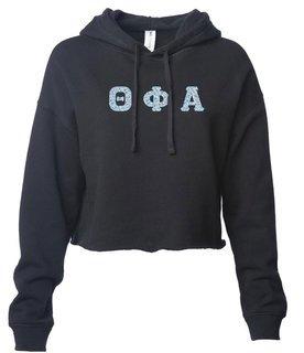 Theta Phi Alpha Lightweight Hooded Pullover Crop Sweatshirt