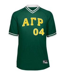 Alpha Gamma Rho Retro V-Neck Baseball Jersey