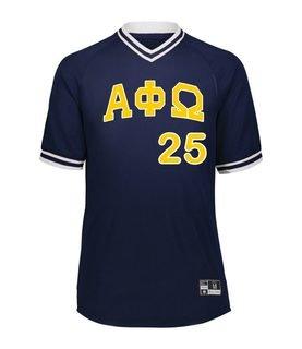 Alpha Phi Omega Retro V-Neck Baseball Jersey
