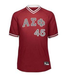 Alpha Sigma Phi Retro V-Neck Baseball Jersey