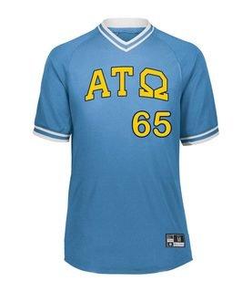 Alpha Tau Omega Retro V-Neck Baseball Jersey