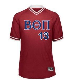 Beta Theta Pi Retro V-Neck Baseball Jersey