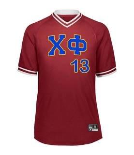Chi Phi Retro V-Neck Baseball Jersey