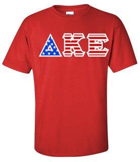 Delta Kappa Epsilon Greek Letter American Flag Tee