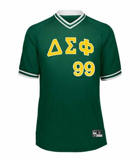 Delta Sigma Phi Retro V-Neck Baseball Jersey