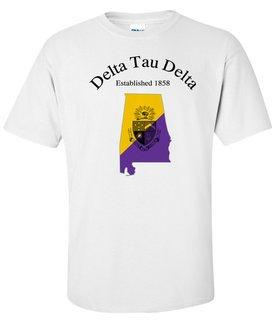 Delta Tau Delta State Flag T-shirt