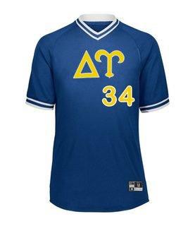 Delta Upsilon Retro V-Neck Baseball Jersey