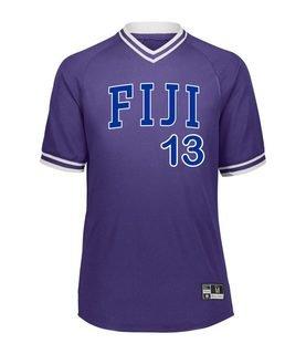 FIJI Retro V-Neck Baseball Jersey