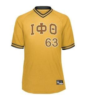 Iota Phi Theta Retro V-Neck Baseball Jersey