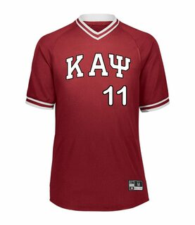 Kappa Alpha Psi Retro V-Neck Baseball Jersey