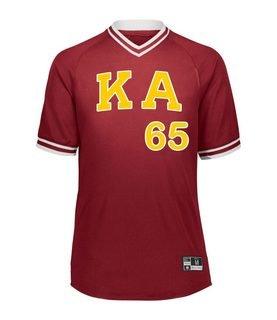 Kappa Alpha Retro V-Neck Baseball Jersey