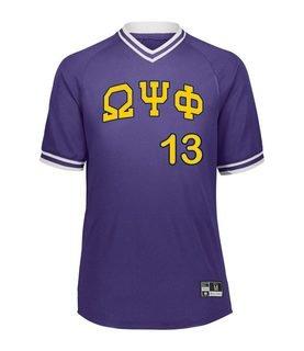Omega Psi Phi Retro V-Neck Baseball Jersey