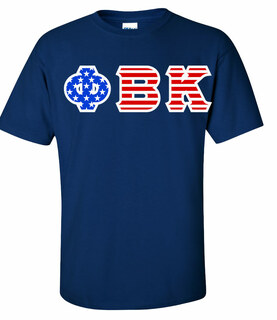 Phi Beta Kappa Greek Letter American Flag Tee