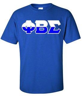 Phi Beta Sigma Two Tone Greek Lettered T-Shirt