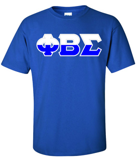 Phi Beta Sigma Two Tone Greek Lettered T-Shirt